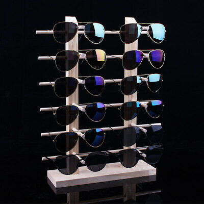 Eyeglasses Display Rack Wood Sunglass Show Case Shelf Eye Glasses Stand Sale