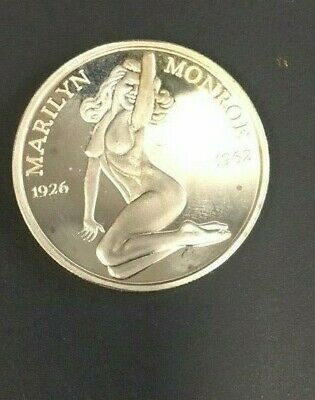 Rare Marilyn Monroe 1926 -1962 One Troy Ounce 1oz. .999 Fine Silver Proof Round