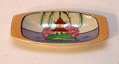 Vintage 1950's Seiei Japanese Lustreware Butter Dish - Hand Painted in Japan