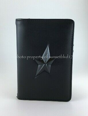 Mugler Passport Cover Black Faux Leather Soft & Gorgeous Brand New