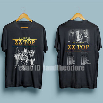 RARE ZZ Top 50 years Tour 2019 with dates T-SHIRT S-3XL