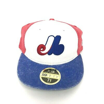 41631fcd6 NEW MONTREAL EXPOS Cooperstown New Era 59FIFTY Distressed Bro Hat Cap Size  7 3/8