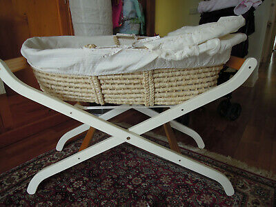 Moses Basket Bassinet with White stand Mothercare UK