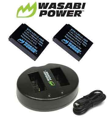 Wasabi Power Battery x 2 & Dual USB Charger for Canon LP-E12 Canon EOS M50 M100