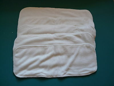 New Lot Five 4layer Bamboo Cotton Inserts Cloth Diapers/Nappy EB52520