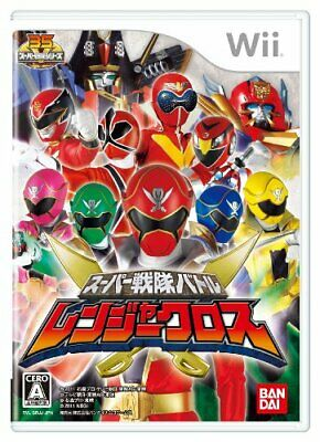 USED Super Sentai Battle Ranger Cross without benefits - Wii Japan