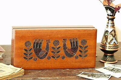Wood Storage Box With lid Large Wooden Storage Antique Jewelry Box Hand Carved