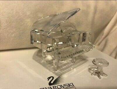 Swarovski Crystal Grand Piano With Stool In Original Box