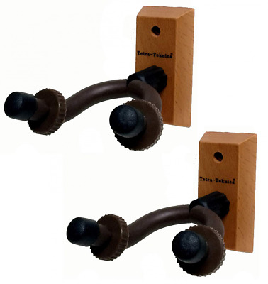 Tetra-Teknica Essentials Series EGH-01NW-2P Hardwood Home & Studio Guitar Hanger