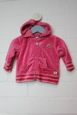 SPROUT Girls Jacket hoodie pink velour soft tracksuit top