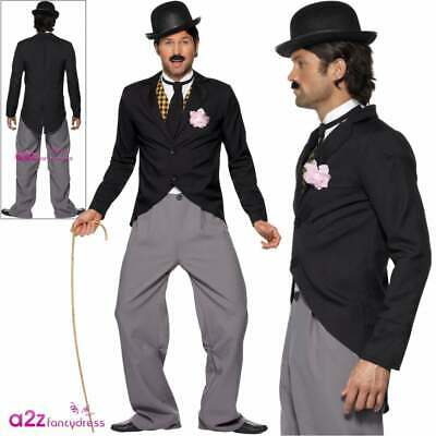 Mens Charlie Chaplin 1920s Movie Film Star Fancy Dress Costume Adults Outfit