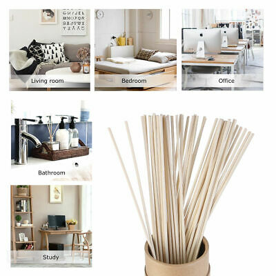 30/100pcs Natural Reed Fragrance Oil Diffuser Replacement Refill Sticks Rattan