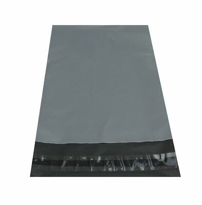 """50 BAGS 10"""" x 14"""" Strong Mailing Poly Postage QUALITY Bags Grey Self Seal"""