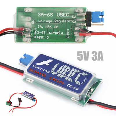 HOBBYWING RC UBEC 5V 6V 3A Max 5A Switch Mode Lowest RF Noise BEC für RC Models