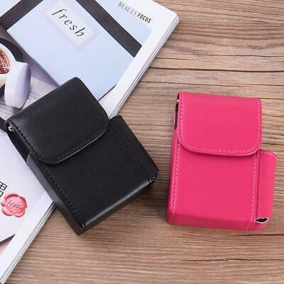 Stainless Steel + PU Leather Style Striae Cigarette Case With Lighter Packets