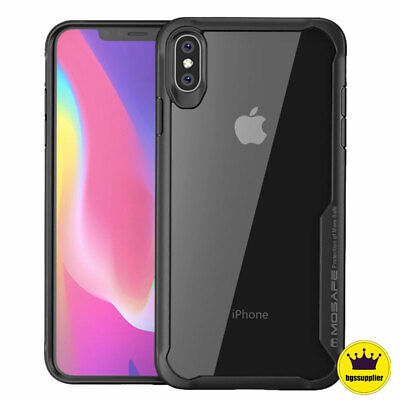 Case For iPhone XR XS Max X Clear Back Protective Bumper Slim Shockproof Cover