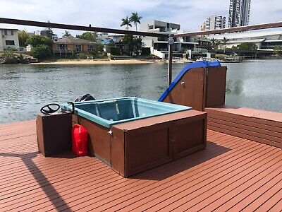Party Pontoon with Heated Spa Water Slide and 30 person limit