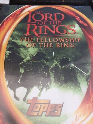Topps 'The Lord Of The Rings' The Fellowship Of The Ring Card Album Inc 90 Cards