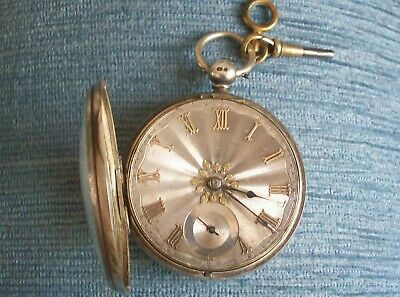 Antique Solid Silver Fusee Pocket Watch E Graham Middlesbro Working