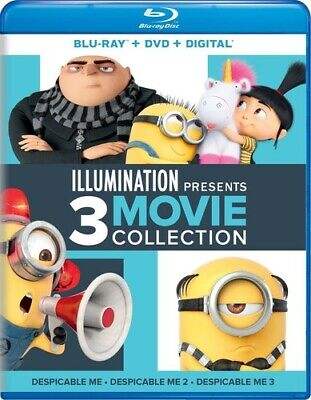 Despicable Me: 3 Movie Collection: 1 / 2 / 3 (6 Disc, Blu-ray + DVD) BLU-RAY NEW