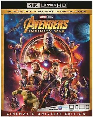 Avengers: Infinity War (2 Disc, With Blu-ray) 4K ULTRA HD BLU-RAY NEW