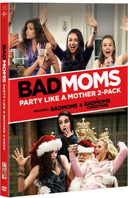 Bad Moms / A Bad Moms Christmas (2 Disc) DVD NEW
