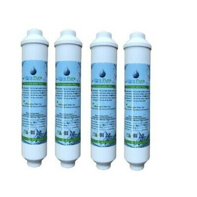 4 x In Line Fridge Water Filters Compatible with Samsung, Daewoo, LG etc