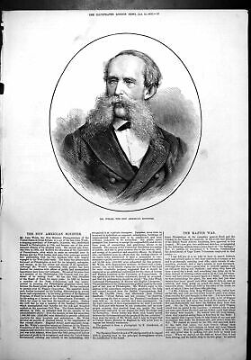 Old Antique Print Mr John Welsh New American Minister Great Britain 1878 19th