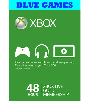 Xbox Live 48 Hour 2 Days Gold Trial Code 48Hr - Email Dispatch