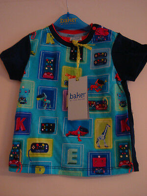 Brand New With Tags Ted baker Baby Boys Box Digi Print T- shirt 9 - 12 Months