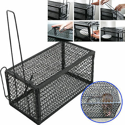 1/2x RAT CATCHER SPRING CAGE TRAP HUMANE LARGE LIVE ANIMAL RODENT INDOOR OUTDOOR