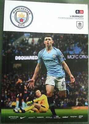 Manchester City v Burnley 26-01-2019 FA Cup R4 Match Programme.