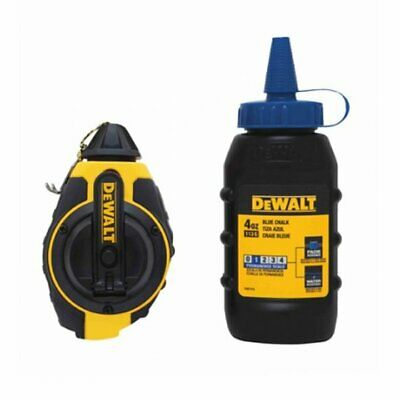Dewalt 3:1 Chalk Line Measuring Reel with Blue Chalk DWHT47373L