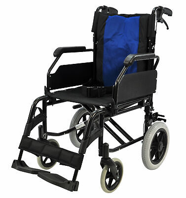 """Greencare Easy 1 Attendant Wheelchair 18"""" Width"""