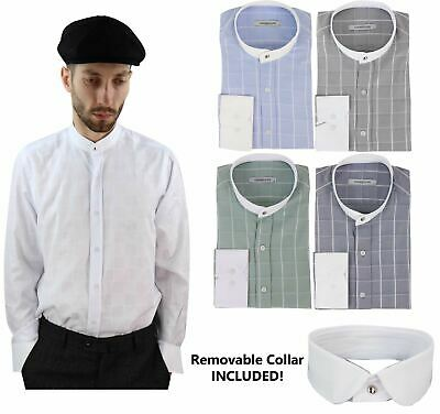 vente discount double coupon offrir des rabais CHEMISE HOMME STYLE Peaky Blinders col indien amovible ...