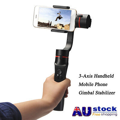 3-Axis Handheld Mobile-Phone Gimbal Stabilizer for Smart Phone Action-Camera AU