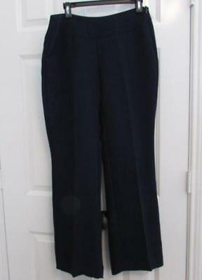 CAbi womens 8 curvy style #117 navy blue trousers career pants NEW $108