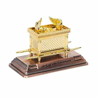 Statue Ark of the Covenant Testimony Replica on Copper Base From Israel by Bet