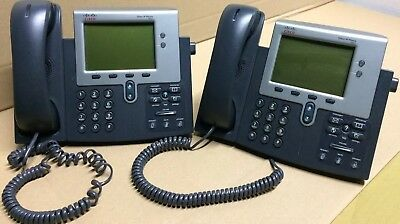 LOT OF (2) Cisco 7941 CP-7941G IP Phone with Stand and Handset