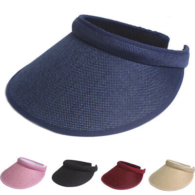 Women Men Plain Visor Outdoor Sun Cap Sport Golf Tennis Beach Hat AdjustableMA
