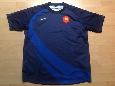 FFR 15 de FRANCE Nike XL Maillot RUGBY Jersey COLLECTOR !