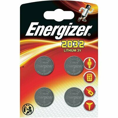 4 x ENERGIZER CR2032, DL2032 3 VOLT COIN CELL BATTERIES