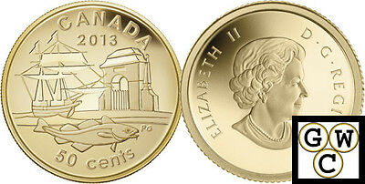 2013 Proof 50-Cent 300th Anniv of Louisbourg 1/25oz Gold Coin 9999 Fine (13233)
