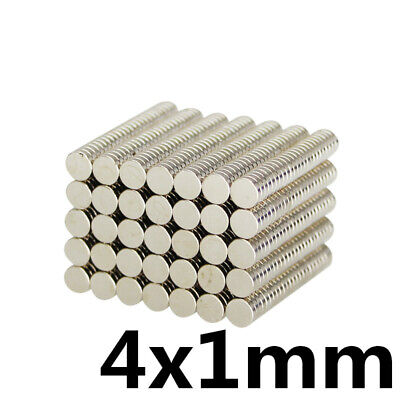 Mini Neodymium Magnet- 4 x 1mm N35 Rare Earth Strong Permanent Magnetic Disc
