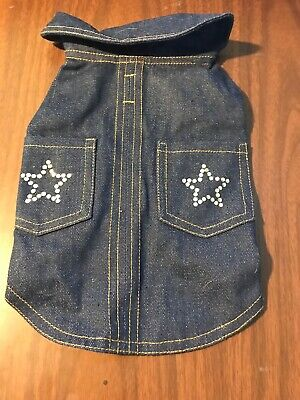 Dog Coat Size Small Pet Puppy Jean Jacket