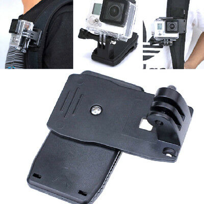 360° Adjustable Backpack Belt Clip Mount For Gopro Hero 6 Yi 4K Action Camera