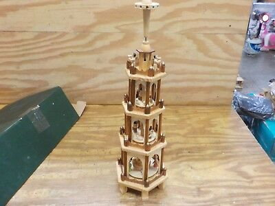 BRUBAKER Christmas Pyramid - 24 Inches - 4 Tier Carousel with 6 Candle Holder