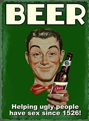 WALL ART GIFT HILARIOUS BEER HELPING UGLY PEOPLE POSTER A4 PRINT SIGN