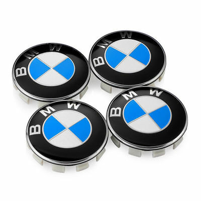 68mm 4Pcs Genuine BMW Emblem Logo Badge Hub Wheel Rim Center Cap 68mm