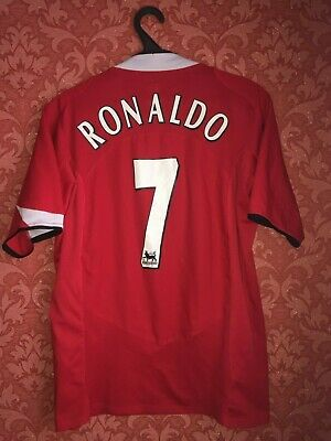 new products cb8f8 24bd4 MANCHESTER UNITED 2004/2005/2006 Nike Home Football Shirt Jersey Vintage  Ronaldo